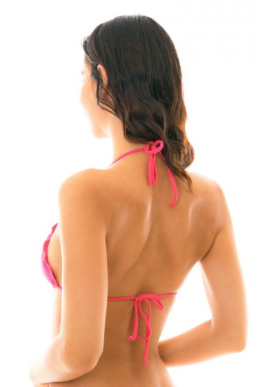 Triangle bikini top with wavy edges - fuchsia - TOP OLINDA EVA