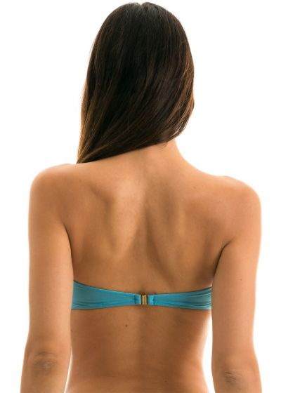 Sky blue bandeau top with a knot - TOP ORVALHO BANDEAU
