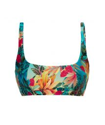 Tropical floral sports bikini top - TOP PARADISE BRA-SPORT