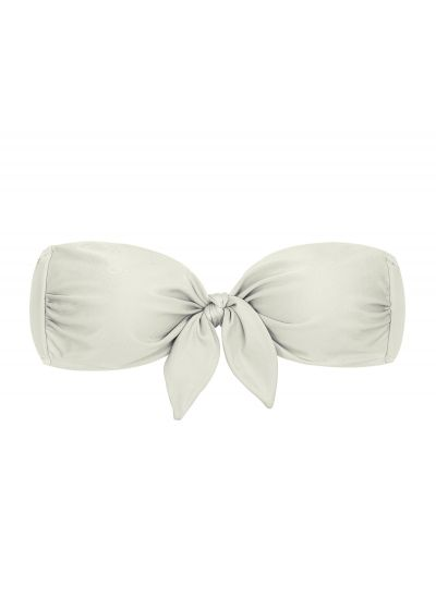 Off white bandeau top with a knot - TOP PEROLA BANDEAU