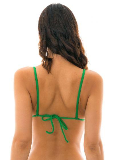 Green neck-tied triangle bikini top - TOP PETER PAN LACINHO