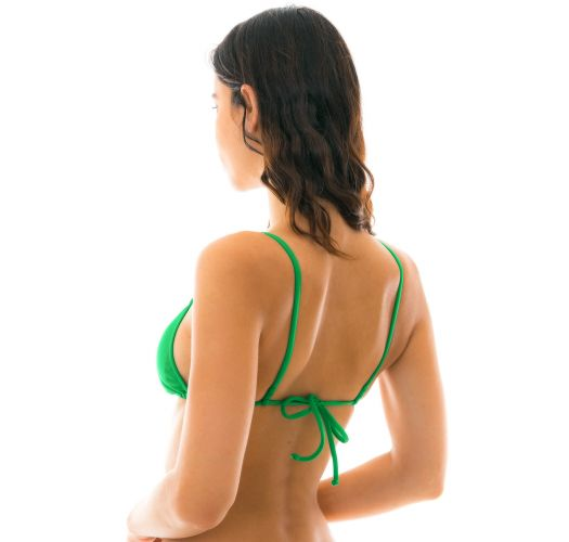 Green neck-tied triangle bikini top - TOP PETER PAN LACINHO