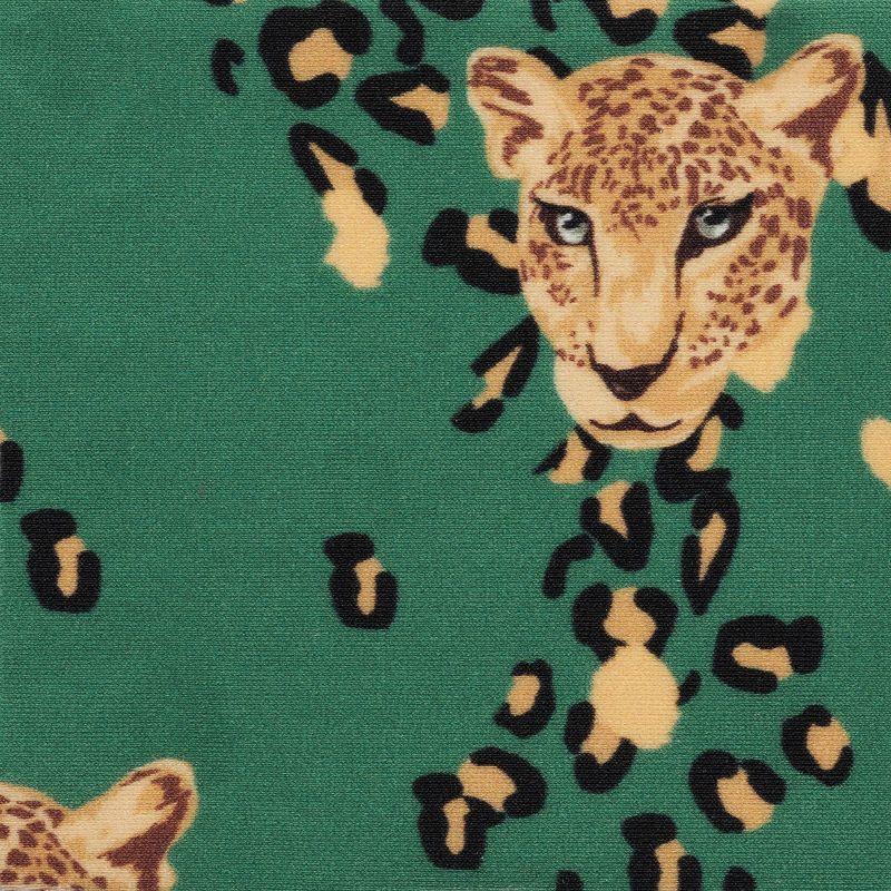 Green leopard print front-tie top - TOP ROAR-GREEN MILA