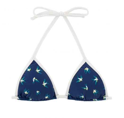 Navy blue triangle top with white ties - TOP SEABIRD MICRO
