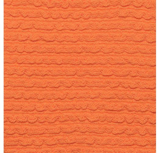 Textured orange crossed bralette bikini top - TOP ST-TROPEZ-TANGERINA TRI-COS