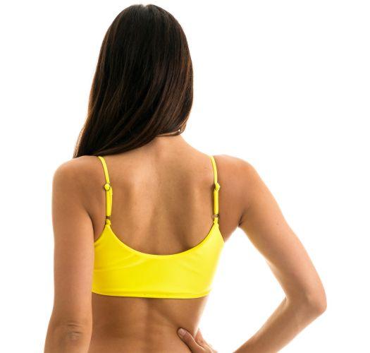 Lemon yellow bra bikini top - TOP STREGA BRA