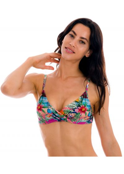 Colorful tropical underwired bralette top - TOP SUNSET BALCONET-INV