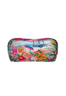 Kolorowy tropikalny top od bikini bandeau - TOP SUNSET BANDEAU-RETO