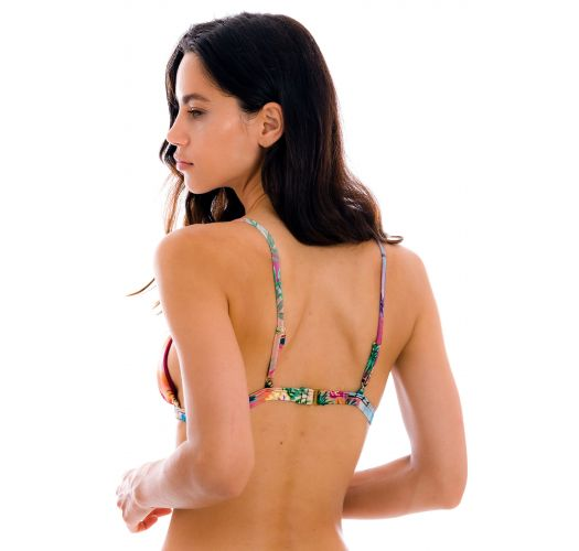 Colorful tropical adjustable triangle top - TOP SUNSET TRI-FIXO