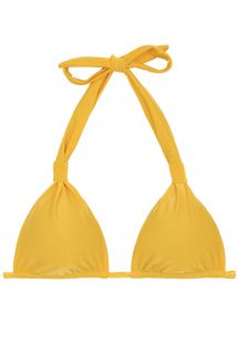 top triangolo halter giallo - TOP TEMPERO CORTINAO