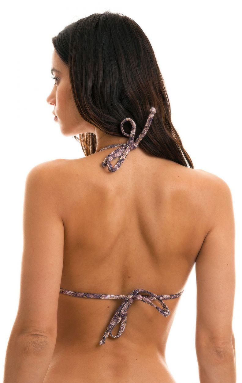 Purple lace print triangle top - TOP TRI MICRO FLOWER PURPLE