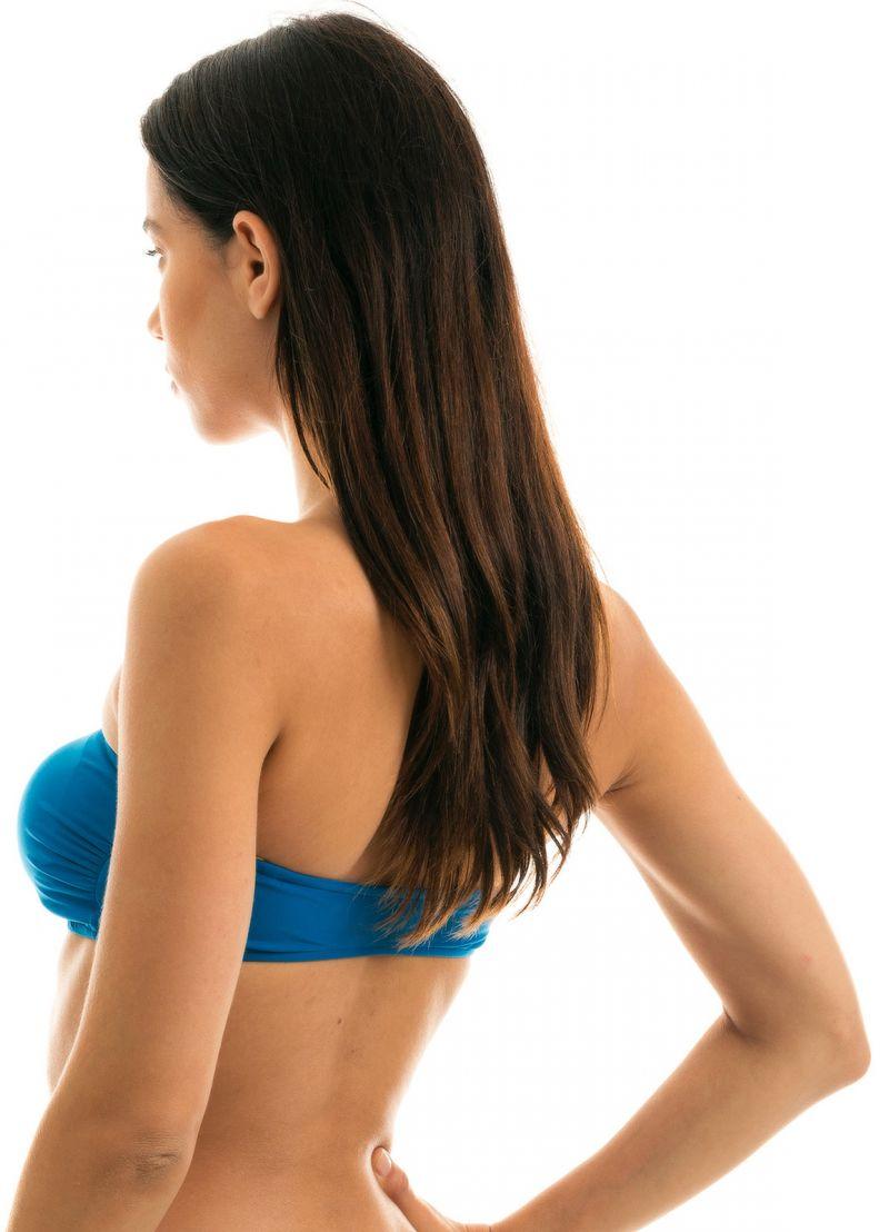 Blue bandeau bikini top - TOP TURQUIA RETO