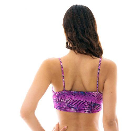 Purple leaves bra bikini top - TOP ULTRA VIOLET BRA
