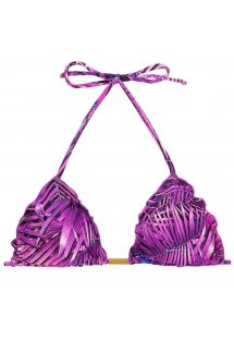 Purple leaves triangle bikini top - TOP ULTRA VIOLET FRUFRU
