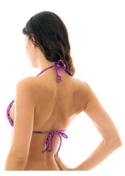 Purple leaves triangle bikini top - TOP ULTRA VIOLET FRUFRU