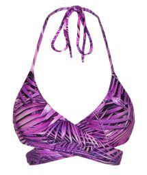 Purple wrap bra bikini top - TOP ULTRA VIOLET TRANSPASSADO