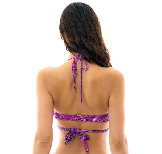 Purpurfarbenes Wrap Bra-Bikini-Oberteil - TOP ULTRA VIOLET TRANSPASSADO