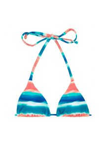 Haut triangle coulissant bleu/corail - TOP UPBEAT INVISIBLE