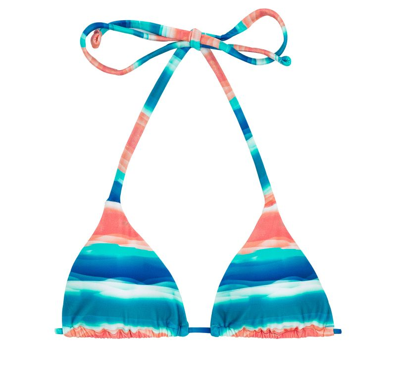 Blue and coral sliding triangle top - TOP UPBEAT INVISIBLE