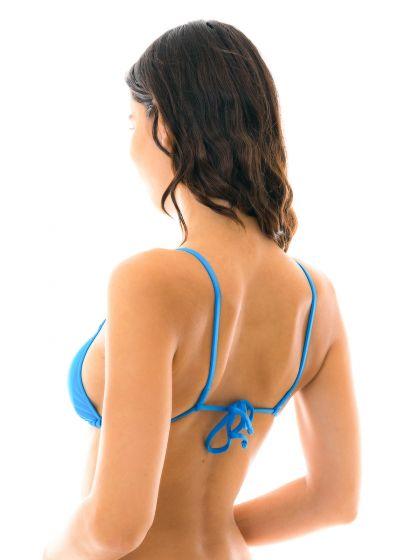 Blue triangle bikini top with straight stripes - TOP URANO ARG FIXO
