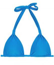Blue triangle halter bikini top - TOP URANO CORTINAO