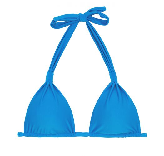 Blue triangle halter bikini top - TOP URANO CORTINAO
