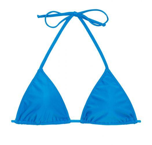 Купальный бюстгальтер синего цвета с передвижными треугольными чашками без наполнителя - TOP URANO LACINHO