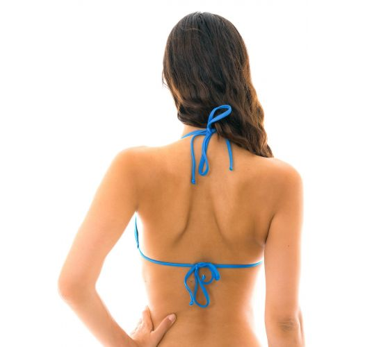 Blue triangle bikini top - TOP URANO LACINHO