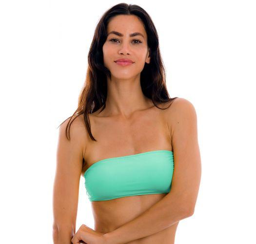 Water green bandeau pull-on bikini top - TOP UV-ATLANTIS BANDEAU-RETO