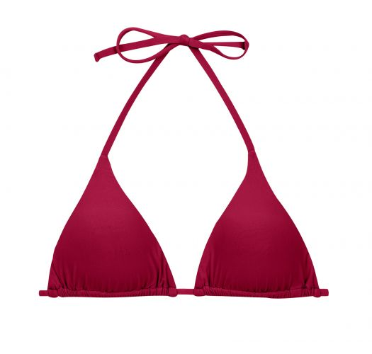 Garnet red sliding triangle top with removable foam pads - TOP UV-DESEJO TRI-INV
