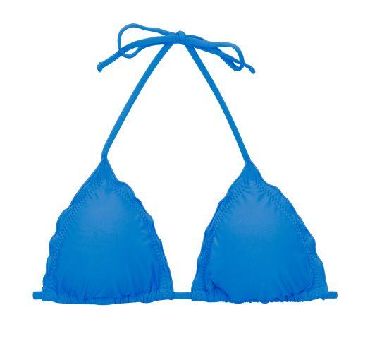 Blue triangle top with wavy edges - TOP UV-ENSEADA TRI