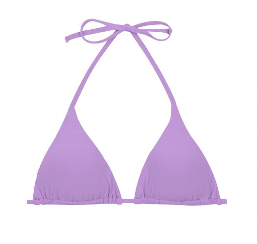 Lilac sliding triangle top with removable foam pads - TOP UV-HARMONIA TRI-INV