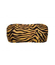 Orange & black tiger print bandeau top - TOP WILD-ORANGE BANDEAU-RETO