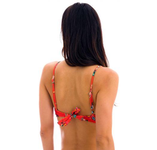 Parte superior de bikini tipo deportivo floral en rojo - TOP WILDFLOWERS BRA-SPORT