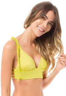 Lime yellow bra bikini top with strappy back - SOUTIEN SALMA LEMON