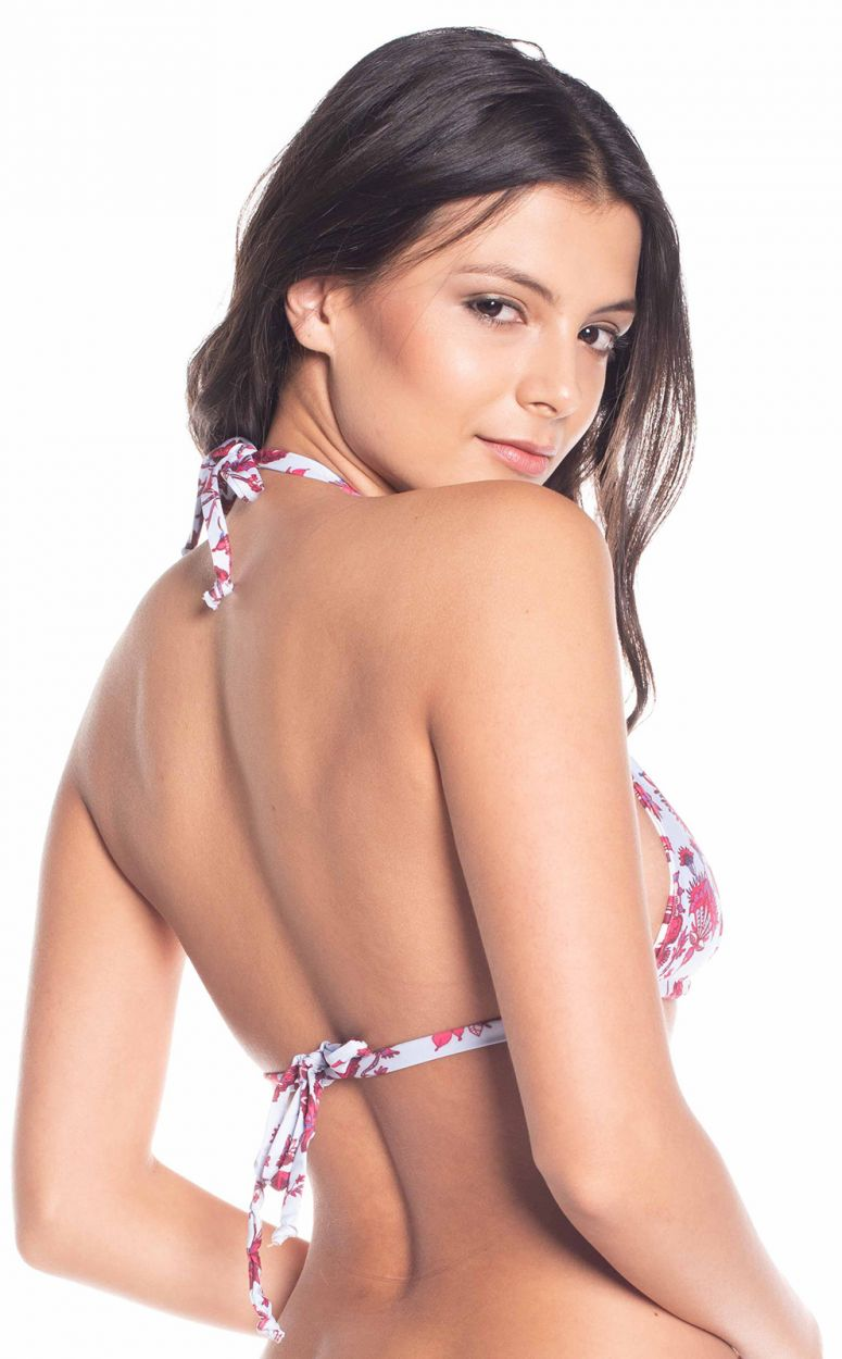 Floral reversible  triangle top - TOP CARIBE FLORAL