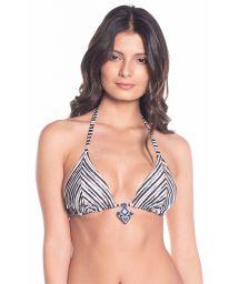 Reversible black and white triangle bikini top - TOP CARIBE LIGHT STRIPES
