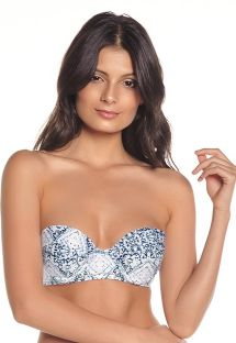 Blue & white printed bandeau top - TOP FREYA SAND TRACE