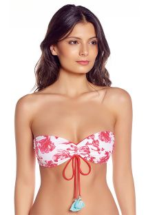 Bandeau top - fish pattern / red - TOP GERANIUM RED