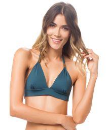 Reversible printed fixed halterneck triangle bikini top - TOP MACONDO DELILAH