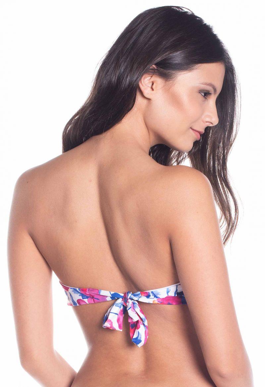 Bandeau-topp med rosa mönster - TOP PRAIA DAS FLORES