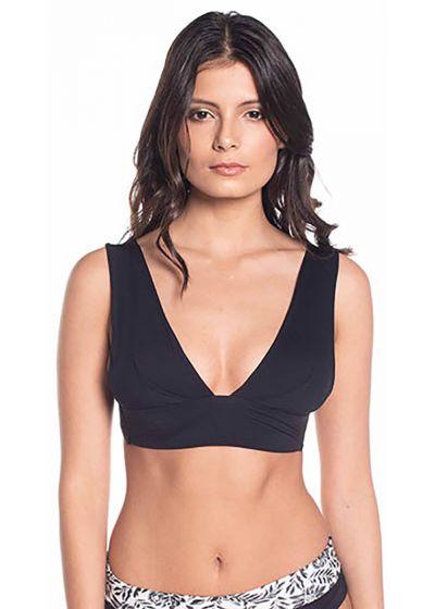 Black bra bikini top with wide straps - TOP SIERRA BLACK NIGHT