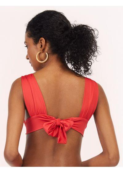 Red / orange longline bikini top - TOP TUCAN AURORA GERANIUM RED