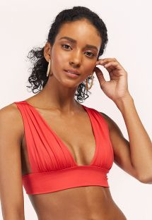 Red / orange longline bikini top - TOP TUCAN AURORA GERANIUM RED