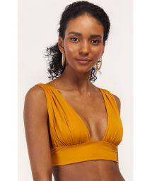 Mustard longline bikini top - TOP TUCAN AURORA MELLOW YELLOW