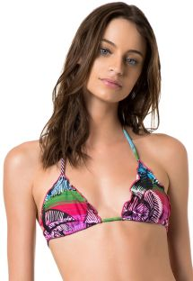 Triangle top - SOUTIEN MAJORELLE PINK
