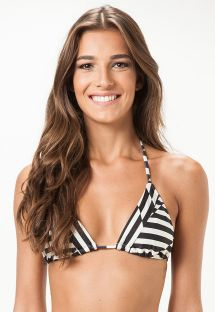Sliding triangle top with two-tone geometric pattern - SOUTIEN MISSOURI