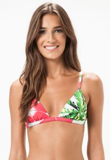 Floral triangle top with adjustable straps - SOUTIEN MOGI MIRIM