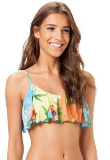 Parte superior de bikini sostén con volante y estampado floral - SOUTIEN PIRACICABA