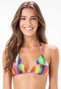 Multicoloured sliding triangle swimsuit top - SOUTIEN SAN DIEGO